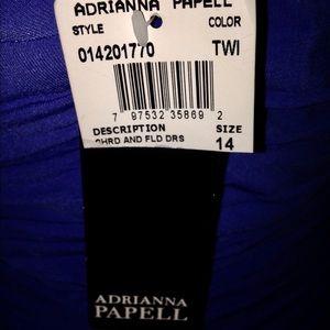 Adrianna Papell Dresses - Blue Dress Women's 14 Holiday Dress Evening Dress